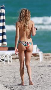 Chelsea Leyland Topless on the beach