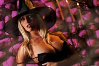 Chiquita in witches costume - Halloween
