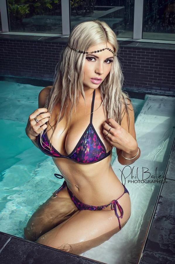 Amy Lee Summers in a bikini