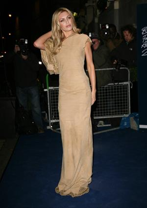 Abigail Clancy British Fashion Awards in London on November 28, 2011