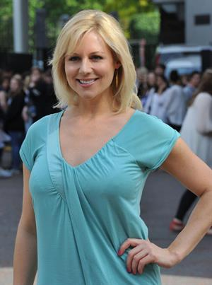 Abi Titmuss ITV studios on July 15, 2011