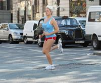 Abi Titmuss exercise candids in London October 22, 2010