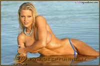 Tiffany Selby in a bikini