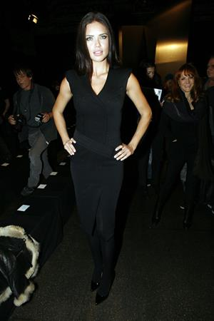 Adriana Lima Donna Karan fall 2012 fashion show in New York on February 13, 2012