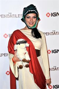 Adrianne Curry dressed as 'Raptor Jesus' at Comic-Con in San Diego - July 12, 2012