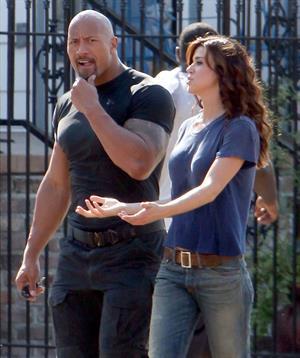 Adrianne Palicki on set of G.I. Joe 2 on August 29, 2011