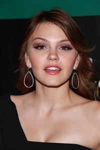 Aimee Teegarden at the grand opening of Chateau Gardens and the launch of Butterfly at Paris in Las Vegas on October 15, 2011