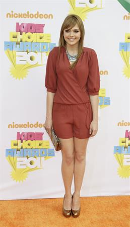 Aimee Teegarden Nickelodeon's 24th annual Kid's Choice Awards at Galen Center on April 2, 2011