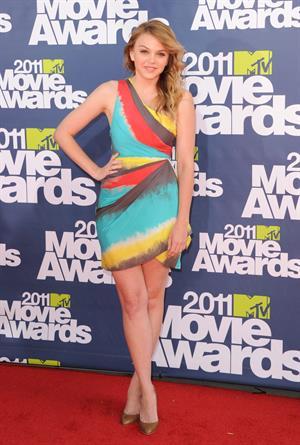 Aimee Teegarden 2011 MTV Movie Awards in Los Angeles on June 5, 2011