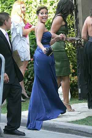 Adrienne Bailon arrives to Khloe Kardashian and Lamar Odoms wedding in Los Angeles