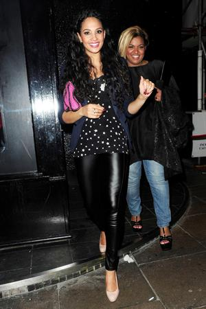 Alesha Dixon - London candids on March 3, 2012