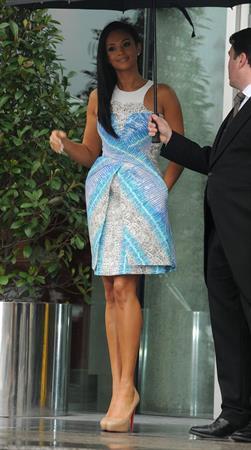 Alesha Dixon - Leaving hotel Manc - 21st Jan 2012
