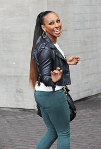 Alexandra Burke out at South Bank in London March 13, 2012