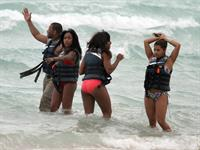 Alexandra Burke bikinis Miami on March 6, 2011