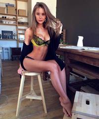 Olga Katysheva in lingerie