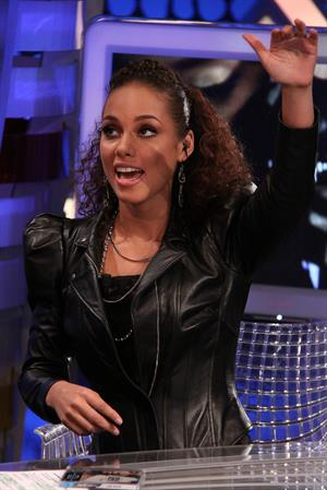 Alicia Keys appearing on the Spanish tv show El Hormiguero on January 19, 2010