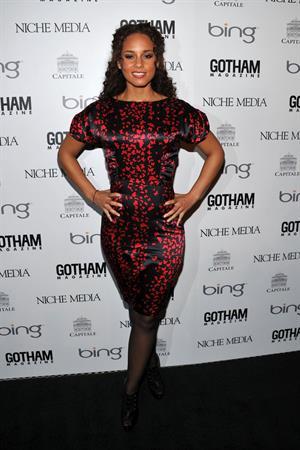 Alicia Keys hosts Gotham Magazine Annual Gala on March 15, 2010