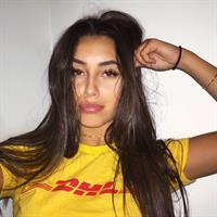 Claudia Tihan taking a selfie