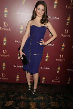 Alison Brie attends Dewars Defining the Modern Man Debate at the Redbury Hotel on March 23, 2011