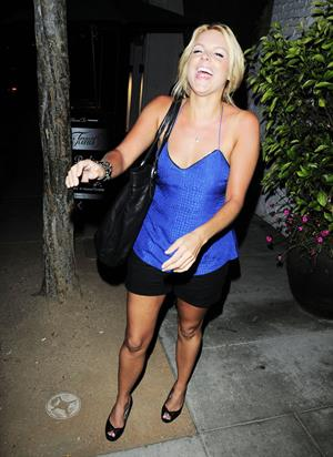 Ali Fedotowsky outside Dan Tanas restaurant in West Hollywood on June 30, 2010