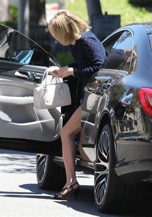Ali Larter leaving her hotel on June 27, 2012