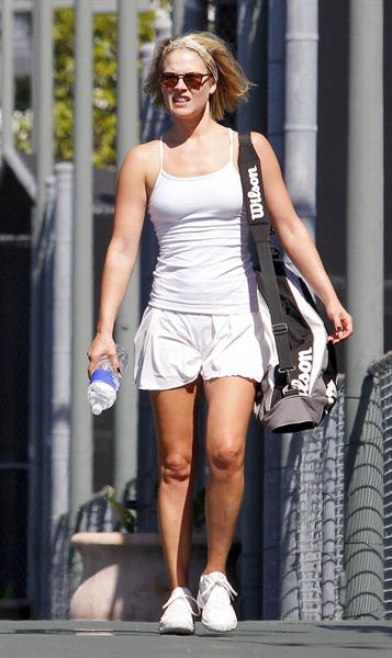 Ali Larter after playing tennis in Los Angeles 6-10-2011