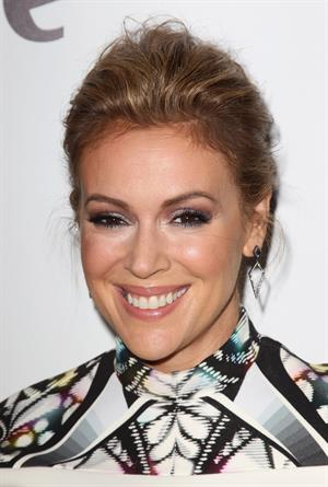 Alyssa Milano Project Runway All Stars Season 3 Premiere Party Hudson Hotel NY 22.10.1