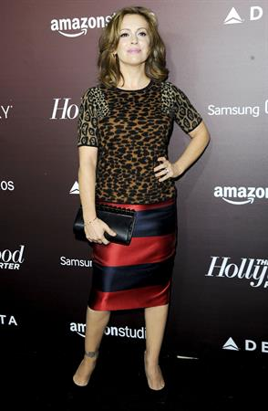 Alyssa Milano Attends The Hollywood Reporter's NexGen 20th Anniversary Gala Hammer Museum in Westwood 06.11.1