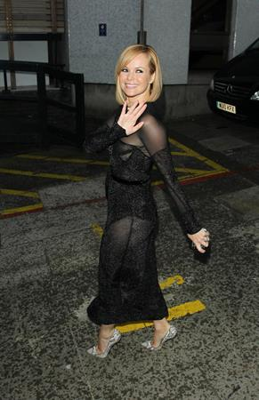 Amanda Holden TV studios in London on 2-5-2012