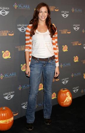 Amanda Righetti 3rd annual Los Angeles Haunted Hayride on October 9, 2011