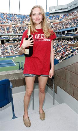 Amanda Seyfried attends the Moet Suite at the US Open on Sept 5, 2011