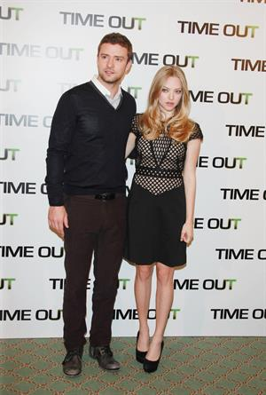 Amanda Seyfried Time Out photocall at Bristol Hotel in Paris on November 4, 2011