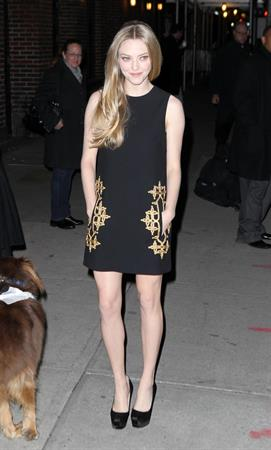 Amanda Seyfried outside the Ed Sullivan Theater in New York City 12/11/12