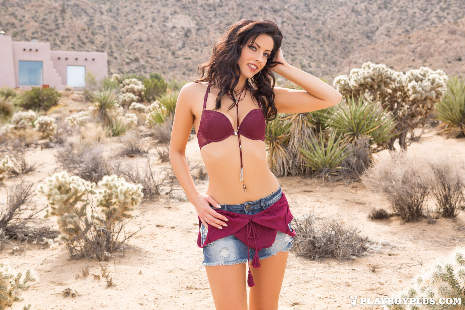 Playboy Cybergirl Darah Kay Nude nude is the desert Playboy Plus!