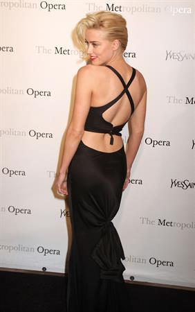 Amber Heard attending the Metropolitan Opera Gala premiere of Manon in New York on March 26, 2012