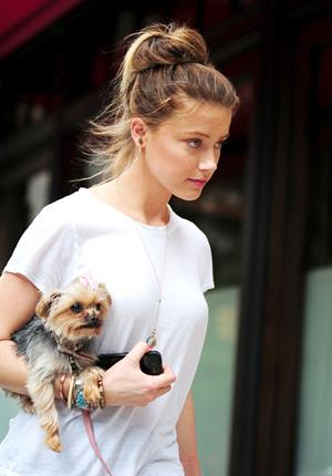 Amber Heard out and about in New York 10/28/12