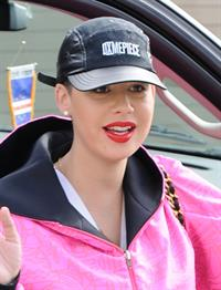 Amber Rose goes to a doctor's appointment in Beverly Hills on Dec 18, 2012