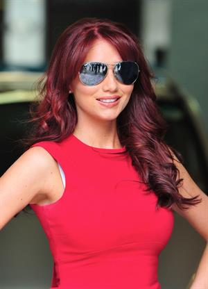 Amy Childs ITV studios in London on Aug 10, 2011