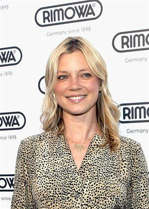 Amy Smart Rimowa New Rodeo Drive store opening party in Beverly Hills on May 16, 2011