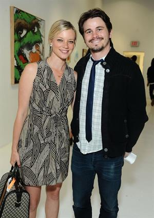 Amy Smart Neff Headwear 7th letter Sesame Street art exhibit on April 27, 2012