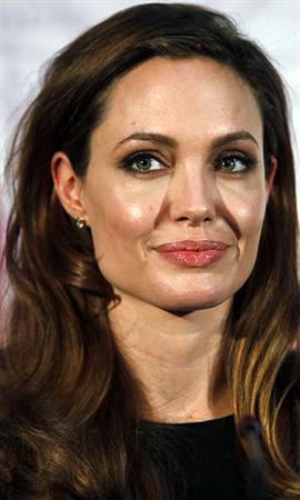 Angelina Jolie press conference in Sarajevo on February 14, 2012