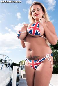 Katie Thornton in a bikini