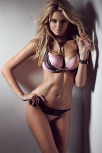 Nadège Dabrowski in lingerie