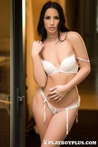 Playboy Cybergirl Kendra Cantara takes off white lingerie