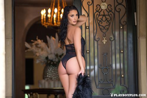 Playboy Cybergirl Kendra Cantara strips off her black lingerie
