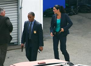 Angie Harmon - On the set of Rizolli & Isles in Los Angeles - June 13. 2012