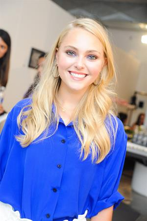 AnnaSophia Robb Twitter Interview at Spring 2013 Mercedes-Benz Fashion Week, September 7, 2012