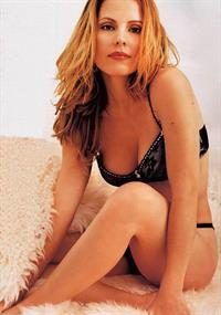Emma Caulfield in lingerie