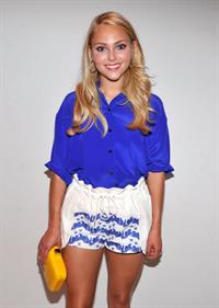 AnnaSophia Robb - Rebecca Minkoff Spring 2013 fashion show during Mercedes-Benz Fashion Week at The Theatre Lincoln Center on September 7, 2012 in New York
