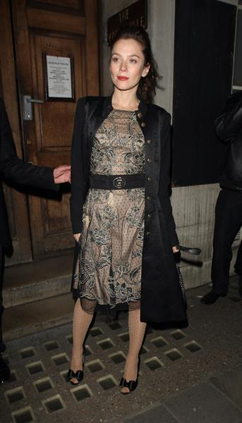 Anna Friel Vaudeville Theatre in London - November 8, 2012